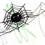 childrens drawing of spider web